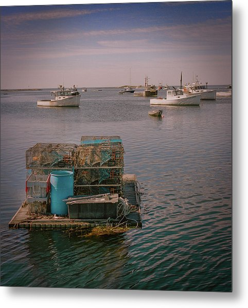 Lobstar Pot Float Metal Print