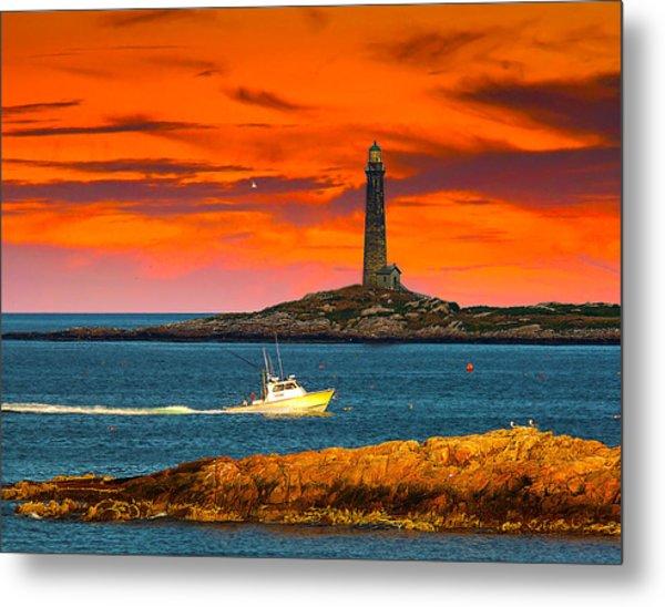 Lobster Boat Cape Cod Metal Print