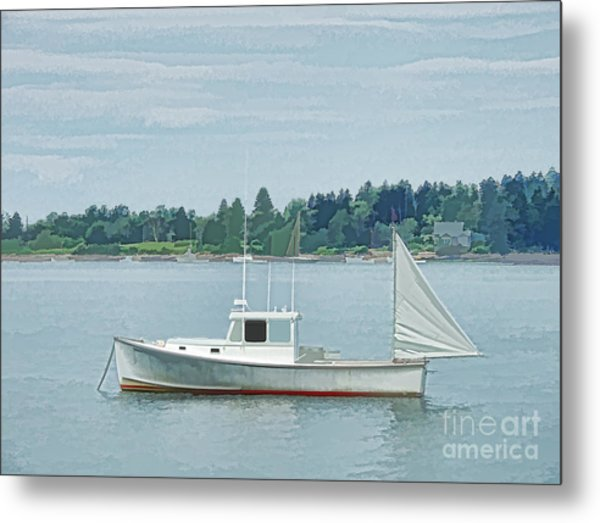 Lobster Boat Harpswell Maine Metal Print