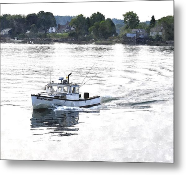 Lobster Boat Lbwc Metal Print