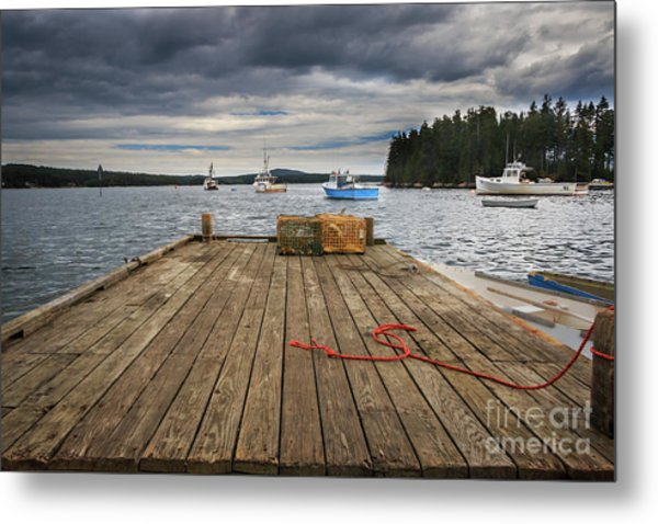 Lobster Boats Of Winter Harbor Metal Print