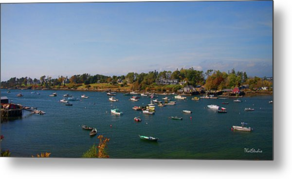 Lobster Boats On The Coast Of Maine Metal Print