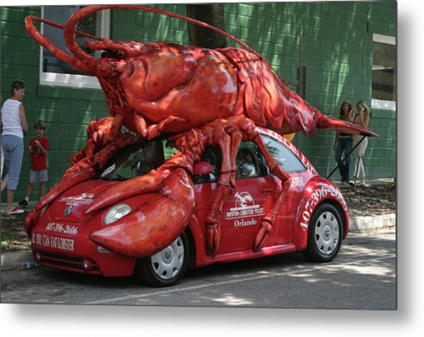Lobster Car Metal Print by Carl Purcell