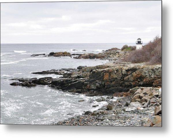 Lobster Point Lighthouse - Ogunquit Maine Metal Print