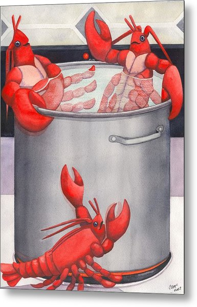 Lobster Spa Metal Print