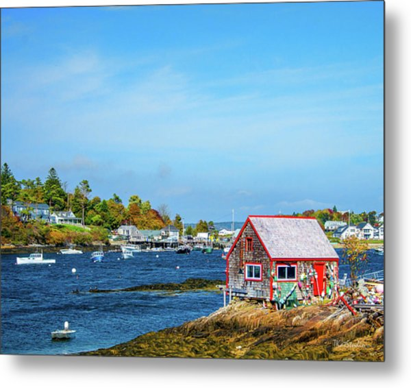 Lobstermen's Shack Metal Print