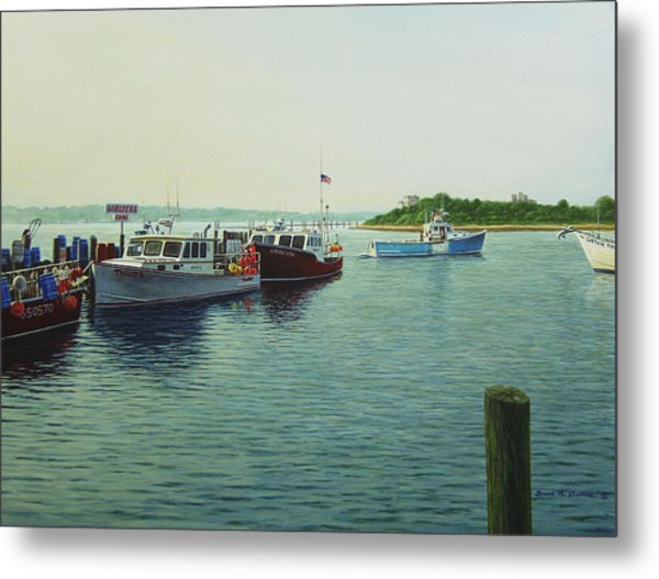 Lobsters And Crabs Metal Print by Bruce Dumas