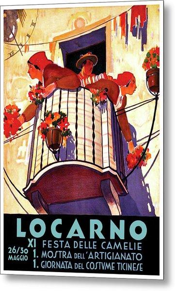 Locarno, Feast Of The Camellias, Switzerland Metal Print