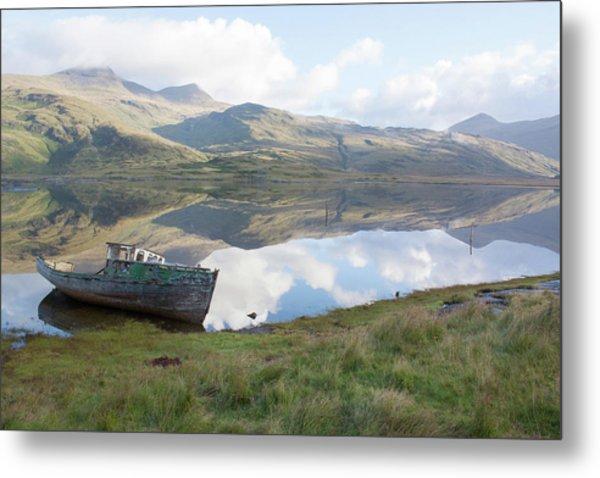 Loch Beg Reflects Metal Print