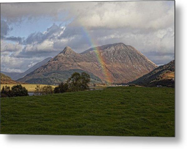 Loch Eilde Mor Rainbow Metal Print by Jim Dohms