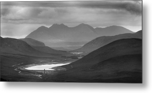 Loch Glascarnoch And An Teallach Metal Print