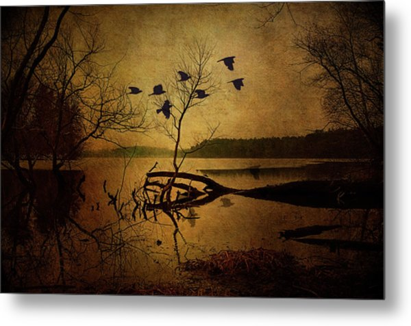 Ethereal Autumn Metal Print