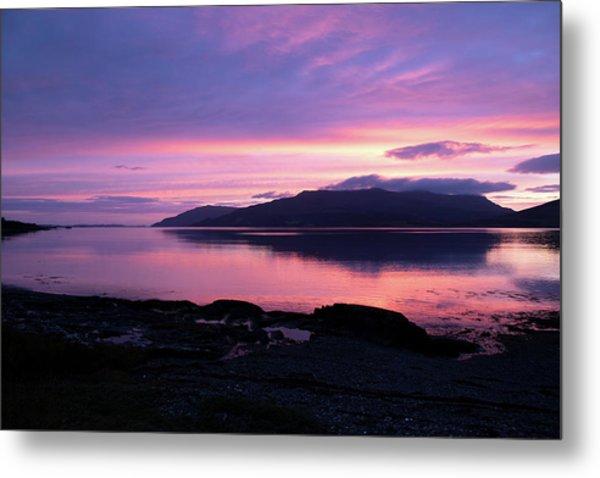 Loch Scridain Sunset Metal Print