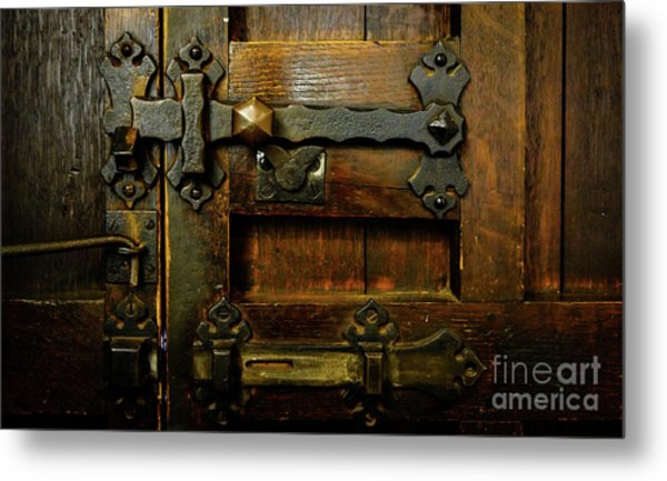 Locked And Bolted Metal Print
