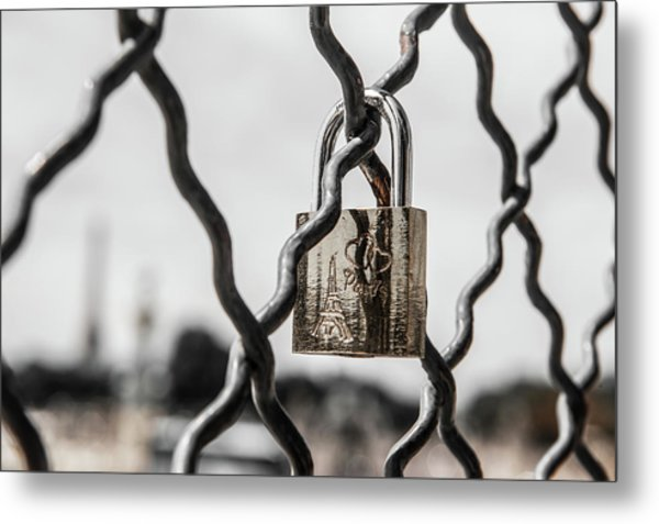 Locked In Paris Metal Print
