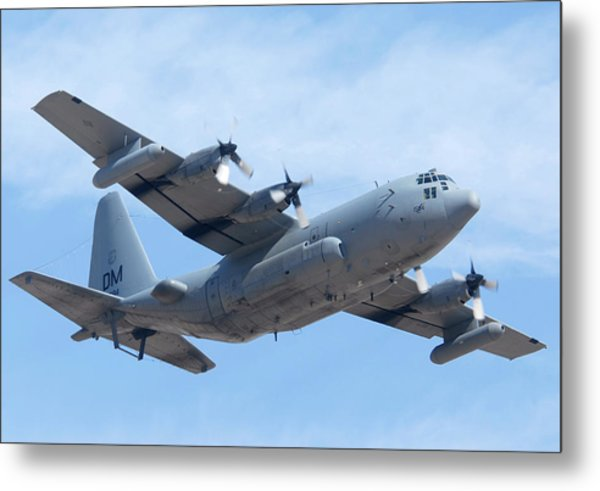 Lockheed Ec-130h Compass Call Hercules 73-1584 Davis-monthan Afb Arizona March 8 2011 Metal Print