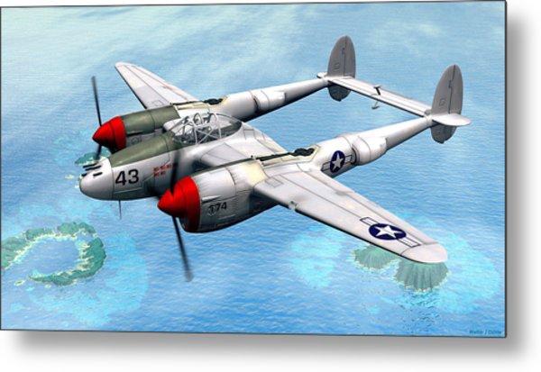 Lockheed P-38 Lightning Metal Print