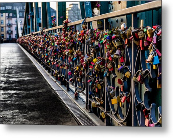 Locks Of Lock Bridge Metal Print