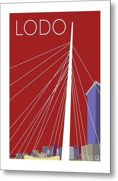 Lodo/maroon Metal Print