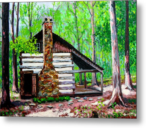 Log Cabin V Metal Print