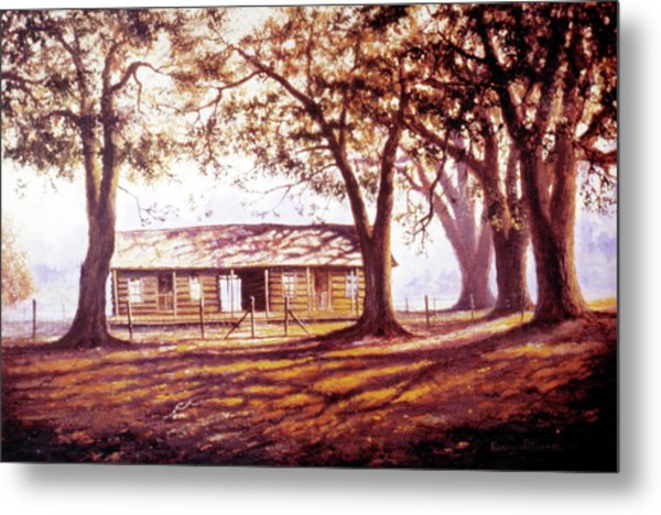 Log House On 421 Metal Print