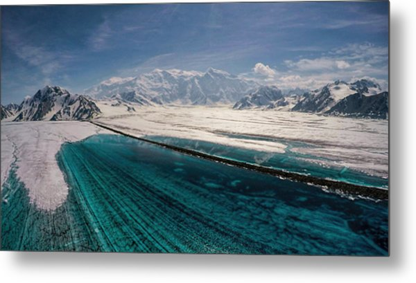 Metal Print featuring the photograph Logan Glacier Meltwater by Fred Denner