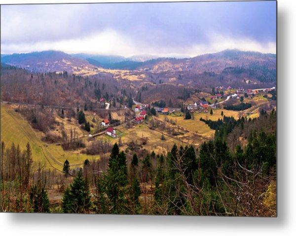Lokve Valley In Gorski Kotar View Metal Print
