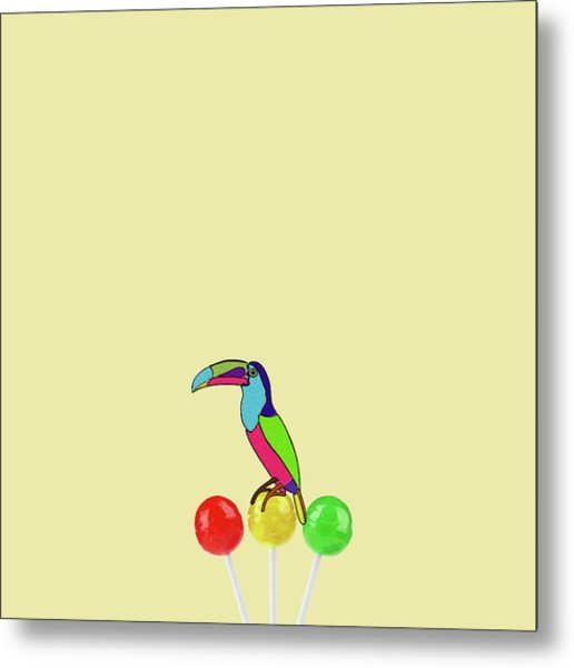 Lolipop Bird Metal Print