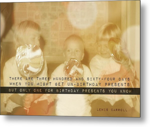 Lollipops Quote Metal Print by JAMART Photography