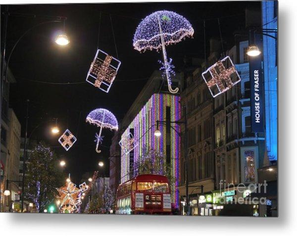 London At Christmas Metal Print