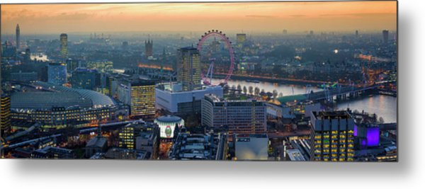 London At Sunset Metal Print
