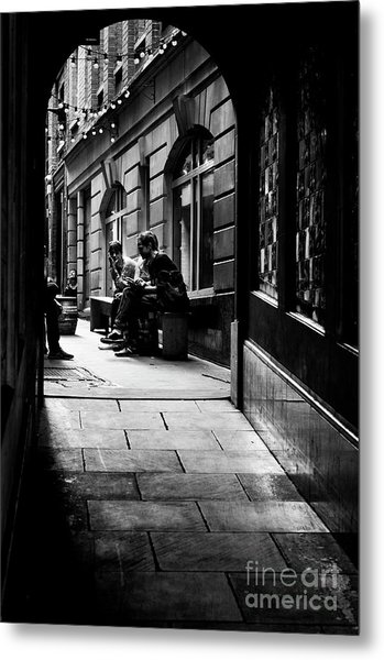 London Backstreet Alley Metal Print