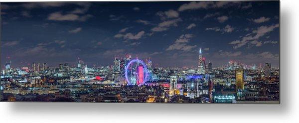 Metal Print featuring the photograph London By Night by Stewart Marsden