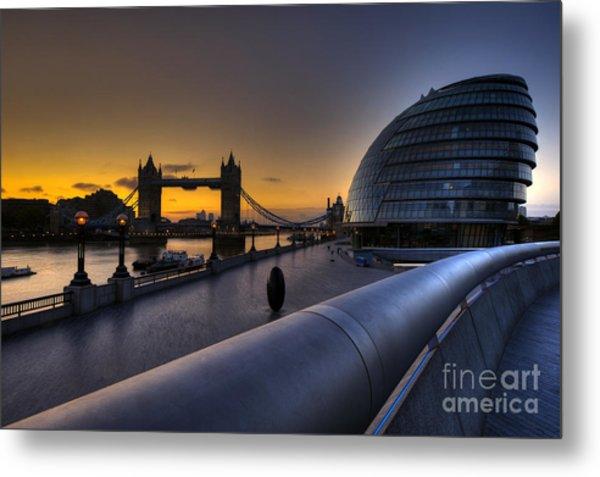 London City Hall Sunrise Metal Print by Donald Davis