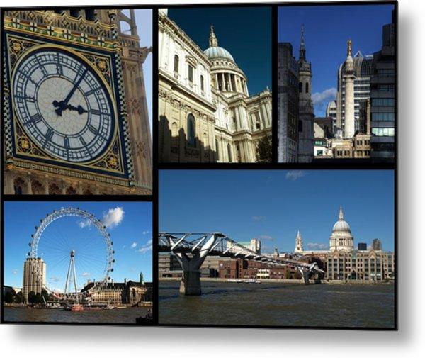 London Collage Metal Print
