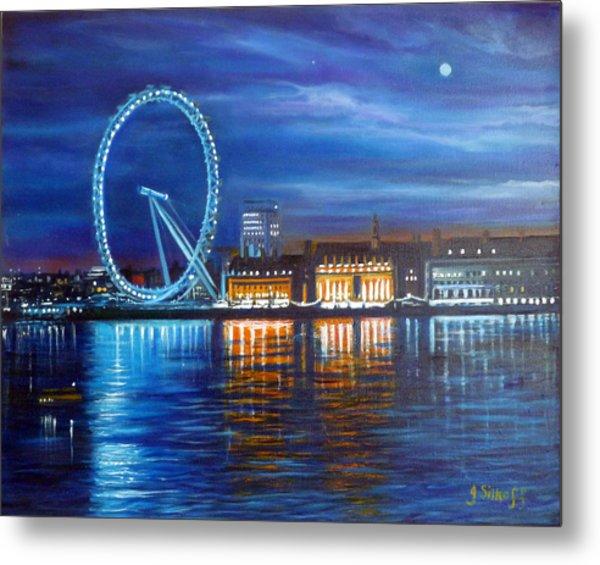 London Eye Metal Print by Janet Silkoff