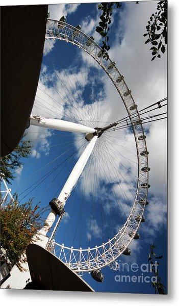 London Ferris Wheel Metal Print