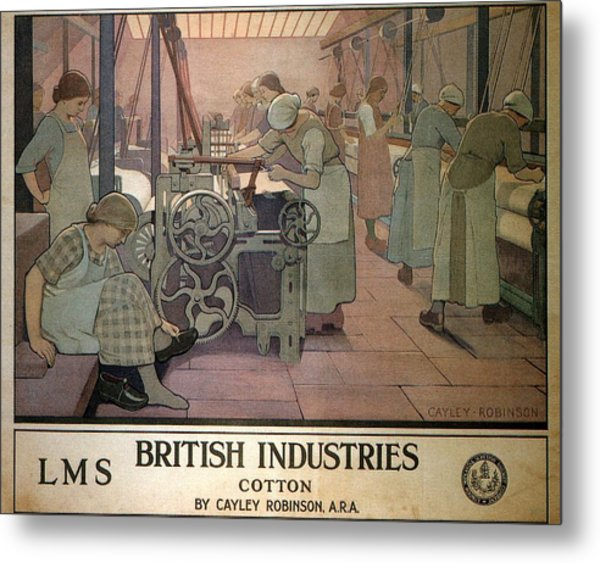London Midland And Scottish Railway, British Industries - Retro Travel Poster - Vintage Poster Metal Print