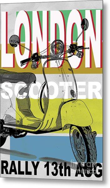 London Scooter Rally Metal Print by Edward Fielding