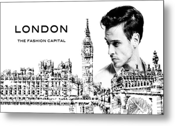 London The Fashion Capital Metal Print