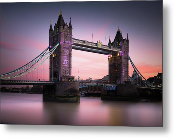 London, Tower Bridge Sunset Metal Print