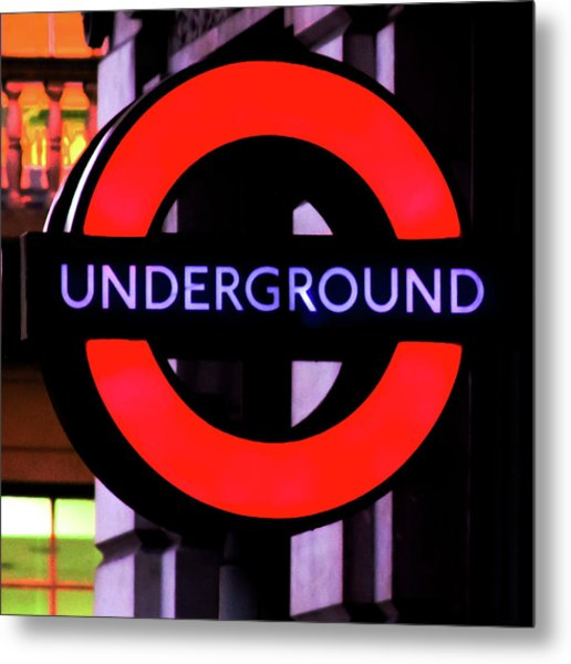 London Underground Sign Metal Print