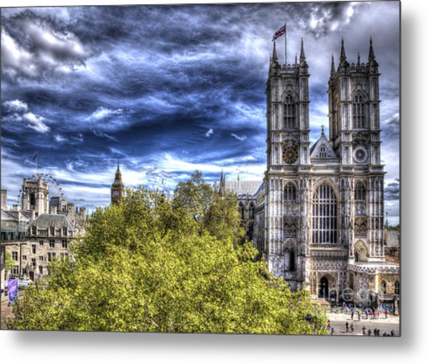 London Westminster Abbey Surreal Metal Print