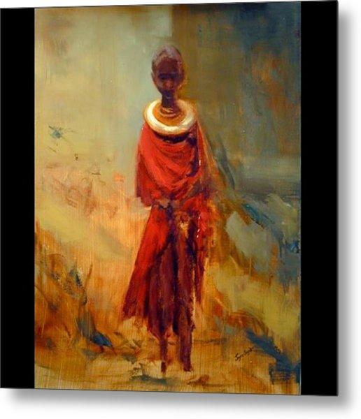 Lone African Girl Metal Print