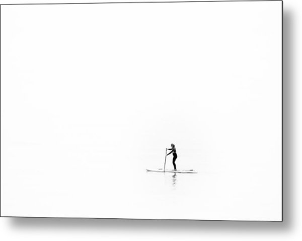 Metal Print featuring the photograph Lone Paddle Boarder by Will Gudgeon