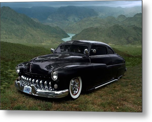 Lone Wolf 1949 Mercury Low Rider Metal Print