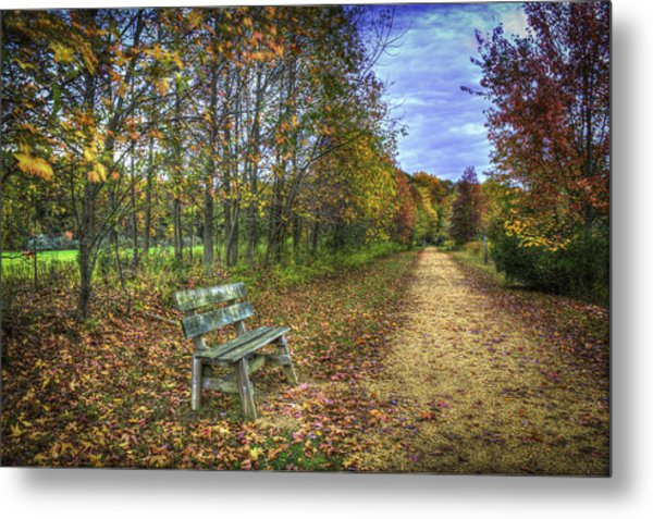 Lonely Chair Metal Print