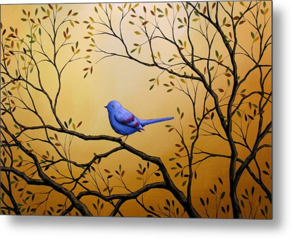 Lonely Night By Amy Giacomelli Bird Art Metal Print