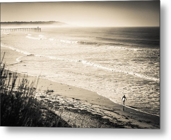 Metal Print featuring the photograph Lonely Pb Surf by T Brian Jones