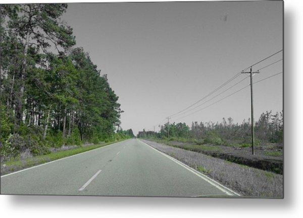 Lonely Road Metal Print by Chris Short